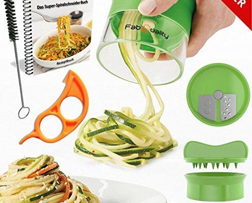 Shopping - Ratgeber premium-fabquality-spiralschneider-fr-gemse-handlich-inklusive-497x400 Gemüseschneider für raffinierte Beilagen und essbare Deko