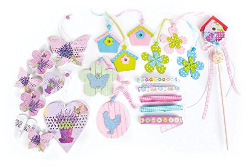 Shopping - Ratgeber deko-set-22-dekoteile-zum-basteln-frhling-dekomaterial-bnder-anhnger-stecker Frühlingsdeko - Zeigen Sie Freude am Frühling