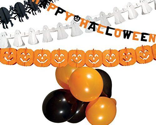Shopping - Ratgeber boland-74588halloween-party-set-orangeschwarzwei-500x400 Halloween Party- und Tisch-Deko für Innen